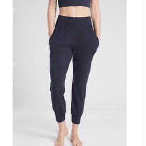 Athleta Salutation Jogger In Powervita Navy Blue